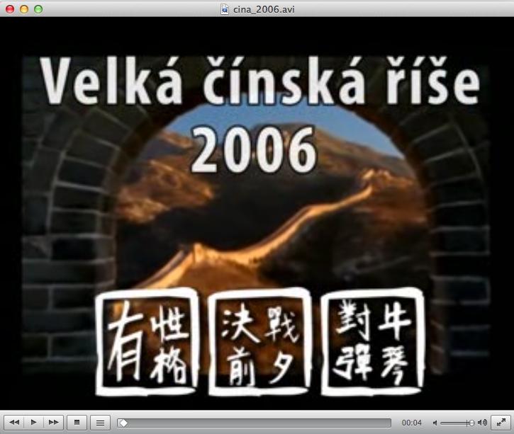 Táborová hra Čína - video